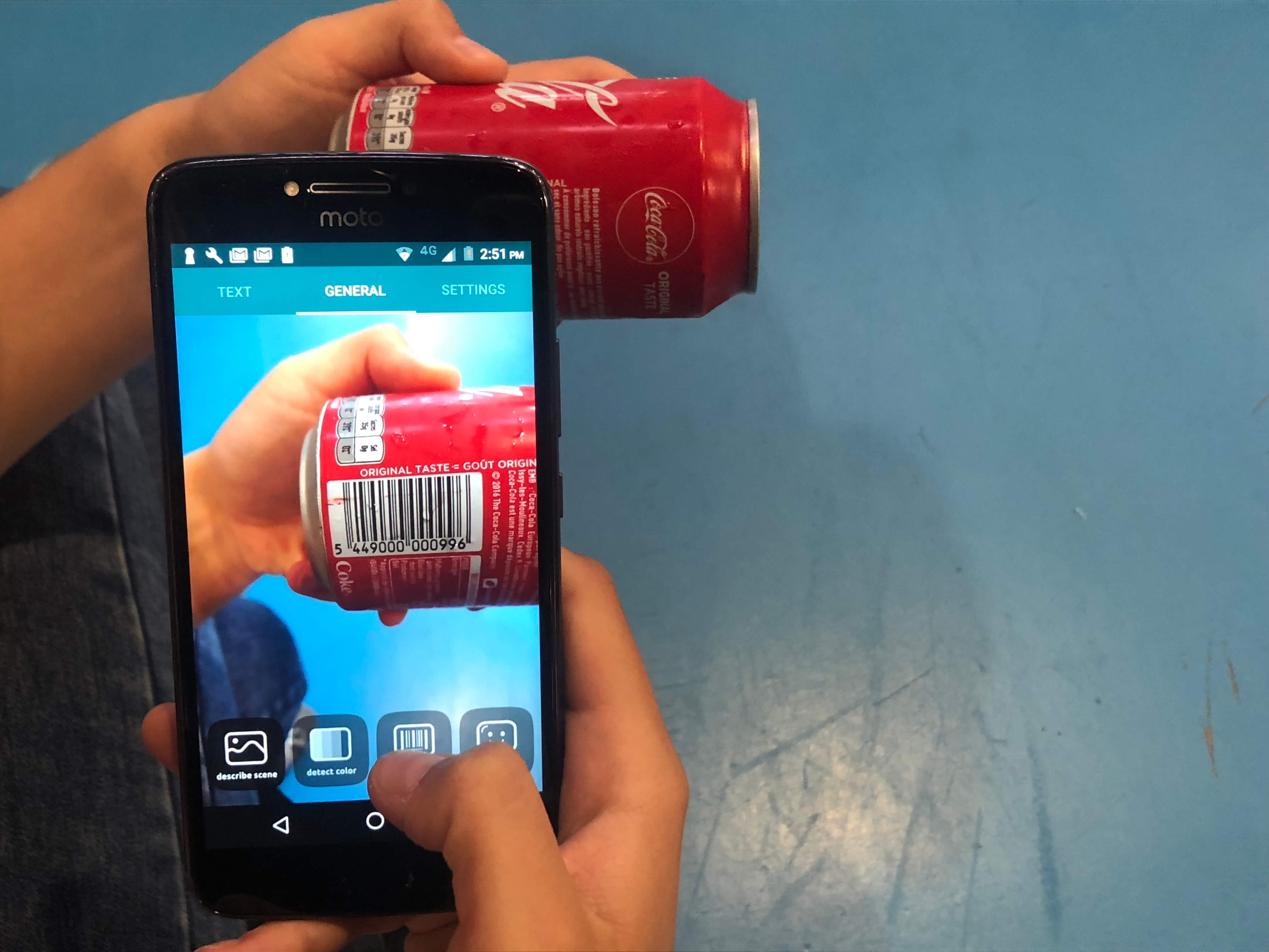 Envision, Coca Cola kutusundaki barkodu tanımlıyor